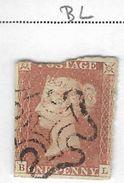 7QV-944: 1p Red: Plate 12 :  B  L - 1840-1901 (Victoria)
