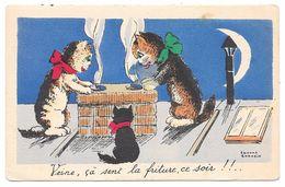 Veine çà Sent La Friture Ce Soir - Chats Humour Clair De Lune - Illustrateur Edmond Sornein - Série N° 17 - Andere Illustrators