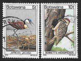 Botswana, Scott # 202,204 Used Birds, 1978 - Botswana (1966-...)