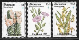 Botswana, Scott # 222-4 MNH Christmas, Flowers, 1978 - Botswana (1966-...)