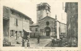 """.CPA FRANCE 69 """"Longes, La Place De L'église"""" - Autres Communes"""