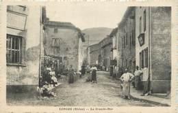 """.CPA  FRANCE 69 """" Longes, La Grande Rue"""" - Autres Communes"""