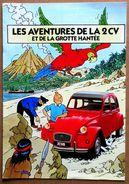 Hergé - Tintin > Brochure Publicitaire Citroën : LES AVENTURES DE LA 2 CV Et De La Grotte Hantée - Hergé