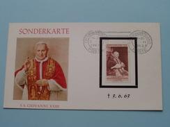S.S. GIOVANNI XXIII - (+) 3.6.63 Citta Del Vaticano ( SONDERKARTE / Zie/voir Foto's Voor Details ) - Oblitérés