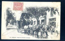 Cpa D' Algérie Aumale Départ Du Courrier De Bouïra SEP17-78 - Other Cities