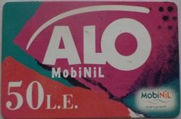 EGYPT - MobiNil Alo Prepaid Card 50 L.E., [USED] (Egypte) (Egitto) (Ägypten) (Egipto) (Egypten) - Egypte