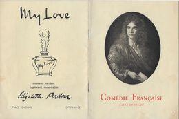"""Programme Théâtre Comédie Française Déc. 1949. """"La Bête"""" De Marius RIOLLET Avec Louis SEIGNER. """"PHEDRE"""" De Jean RACINE - Programs"""