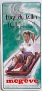 Forfait Ski Combloux 1997 Luge Du Jaillet Megève - Titres De Transport