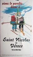 Forfait Ski Combloux 1996 St Nicolas De Veroce 12,5x7 Cm - Titres De Transport