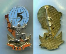 D24 INSIGNE TDM 5° R.I.Ma, 5° Cie TROUPES DE MARINE - Armée De Terre