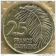 GUINEA 25 FRANCS PLANT FRONT EMBLEM BACK 1985  KM59(?) UNC READ DESCRIPTION CAREFULLY !!! - Guinea
