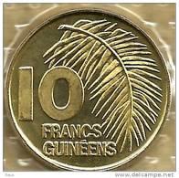 GUINEA 10 FRANCS PLANT FRONT EMBLEM BACK 1985  KM58(?) UNC READ DESCRIPTION CAREFULLY !!! - Guinea