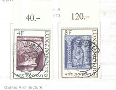 Lussemburgo PO 1973 Arch.Romanesca  Scott.533+534+See Scans - Lussemburgo