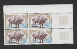 FRANCE / 1974 / Y&T N° 1795 ** : Bison D'Europe (x 4 En Bloc) - Gomme D'origine Intacte - France