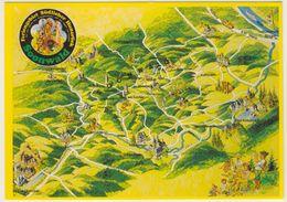 AK  Orientierungskarte Südlicher Hunsrück Soonwald - Cartes Géographiques