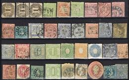 DO 5948  LOT OUDE DUITSE STATEN  GESTEMPELDE + ZONDER GOM ZIE SCAN - Collections (sans Albums)