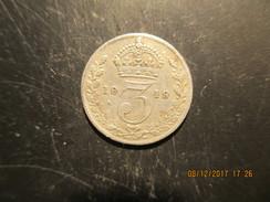 3 Pence 1919, Georges V, Argent, TB - 1902-1971 : Monete Post-Vittoriane