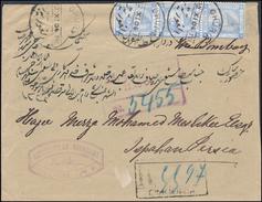 Persia Incoming From Egypt Sea Post Office 1904 Cover Chouria Via Cairo & Boushire To Isphahan Ex Bottrill (44_3309) - 1866-1914 Khedivato De Egipto