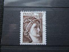 VEND BEAU TIMBRE DE FRANCE N° 2118a , SANS BANDE PHOSPHORE , XX !!! (a) - 1977-81 Sabine Of Gandon
