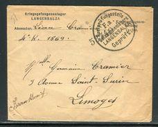 Allemagne - Enveloppe De Prisonnier Du Camp De Langensalza Pour La France - Ref D84 - Allemagne