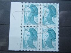 VEND BEAUX TIMBRES DE FRANCE N° 2190a EN BLOC DE 4 + BDF , SANS BANDE PHOSPHORE , XX !!! - 1982-90 Liberty Of Gandon
