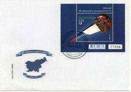 SLOVENIA 2011 -  20° ANNIVERSARIO DELL'INDIPENDENZA - FGL SU FDC - Slovenia