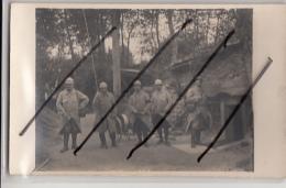 MACHEMONT       CARTE PHOTO  CARRIERES DE MONTIGNY  . POSTE TELEPHONIQUE  .OCTOBRE 1915 - Guerre 1914-18