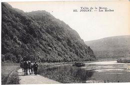 08 - JOIGNY - LES ROCHES - PENICHE Tractée Par 3 Chevaux Sur Le Chemin De HALAGE - Photo ? à Givet - Frankreich