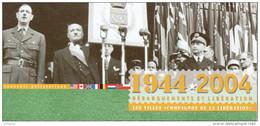 """Souvenir Philatélique 1er Jour De 2004 """" CHARLES DE GAULLE / VILLES COMPAGNONS DE LA LIBERATION """" N° YT 3675. FDC - De Gaulle (General)"""