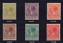 NEDERLAND 1926-28 - Effigie Della Regina Guglielmina -  MH - Yvert 180A-1821-82-84-85/209 - Periodo 1891 – 1948 (Wilhelmina)