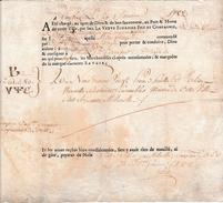 """1782 - TOULON (83) - Connaissement Tartane """"Le Balthazard"""" - Huile D'olive Nouvelle - Documentos Históricos"""