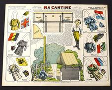 Gioco Costruzione - Imagerie D'Epinal N° 80 Ma Cantine - 1900 Ca. - Giocattoli Antichi