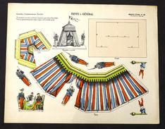 Gioco Costruzione - Imagerie D'Epinal N° 30 Tente De General - 1900 Ca. - Giocattoli Antichi