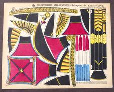 Gioco Costruzione Coiffures Militaires Schapska De Lancier N° 2 Epinal 1900 Ca. - Giocattoli Antichi