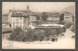 Carte Postale De Genève ( L'Ile Et Les Ponts Sur Le Rhône ) - GE Genève