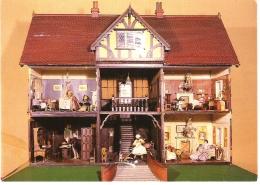 DOLLS HOUSE, THE BOWES MUSEUM, BARNARD CASTLE, DURHAM USED POSTCARD C1 - Durham