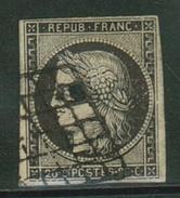 France // 1849-1850 // Yvert & Tellier Cérès No.3 Oblitéré - 1849-1850 Ceres