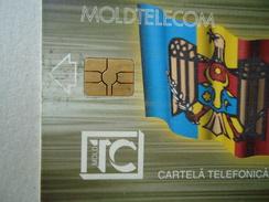 MOLDOVA USED CARDS  RRR   RED CHIPS   3 PHOTO - Moldova