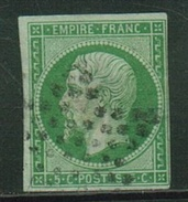 France // 1853-1860 // Yvert & Tellier Napoléon III  No.12 Oblitéré - 1853-1860 Napoléon III