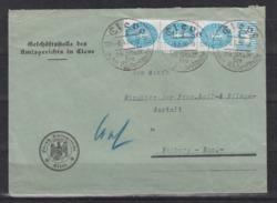 Dt.Reich Vordruck-Dienstbrief Cleve 5.5.34 Mit 3er-Streifen D 127X Dabei 1x OR Walze 3'7'3 (40.-+) - Alemania