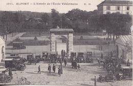 BE17- ALFORT  L'ENTREE DE L'ECOLE VETERINAIRE  VOITURES ANCIENNES CPA  CIRCULEE - Maisons Alfort