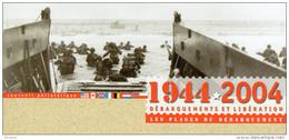 """Souvenir Philatélique 1er Jour De 2004 """"  LIBERATION : LES PLAGES DU DEBARQUEMENT / DE GAULLE """" N° YT 3675. FDC - De Gaulle (General)"""