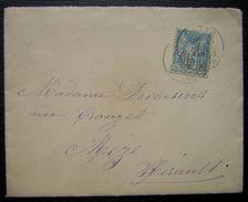 1899 Cette (Sète) Hérault Lettre Pour Mèze - Storia Postale