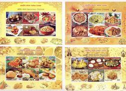 INDIA 2017 Cuisine Food Gastronomy Indian Cuisine Miniature Souvenir Sheet Block Complete Set - Otros