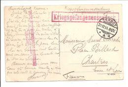Zerbst>France 1914. BRIEFSTEMPEL. ZENSUR STEMPEL. KRIEGSGEFANGENENSENDUNG. P.O.W. - 1. Weltkrieg