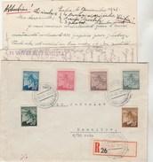 Tchécoslovaquie Lettre Recommandée OLOMOUC 18/8/1945 Pour Damnikov - Covers & Documents