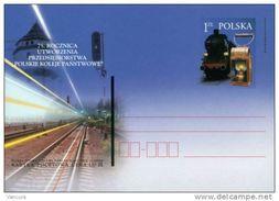 Cp 1268 Poland - 75th Anniv. Of The Polish Railway 2001 - Trains