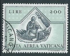 1971 VATICANO POSTA AEREA USATO QUATTRO EVANGELISTI 200 LIRE - X3-1 - Airmail