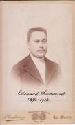 Photos Originales  Anciennes CDV   Photo Homme Edouard Chamousset Photo P  Couturier Le Mans 1890 Ref 122 - Photos
