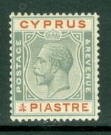 Cyprus: 1924/28   KGV   SG103   ¼pi      MH - Chypre (...-1960)